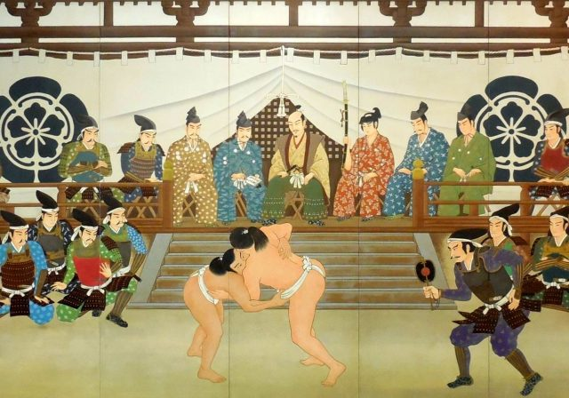 信長公記・11巻その2 「安土城の相撲大会」